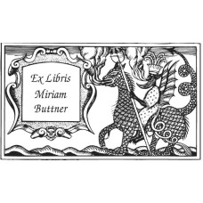 Bookplate Dragon with Banner