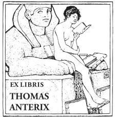 Ex Libris Sphinx und Frau